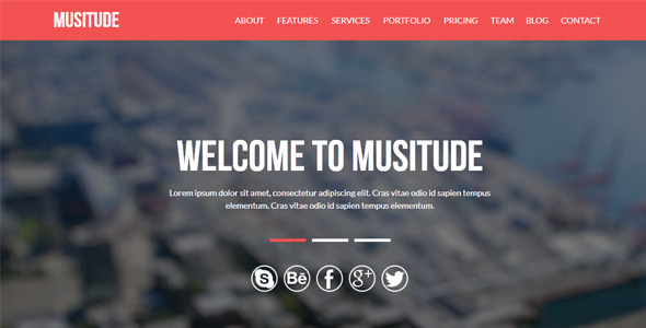 Musitude - One Page Parallax Muse Template - Corporate Muse Templates