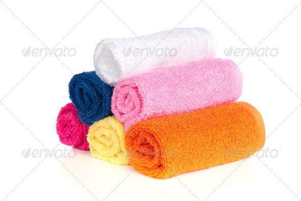 Bath towels - Stock Photo - Images