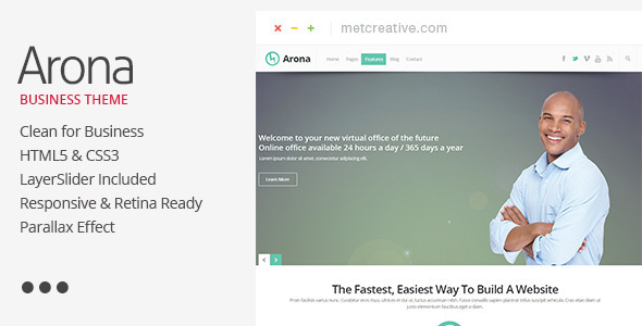 Arona - Creative Business Theme - Business Corporate