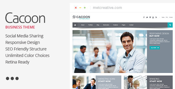 Cacoon – Responsive Business Theme