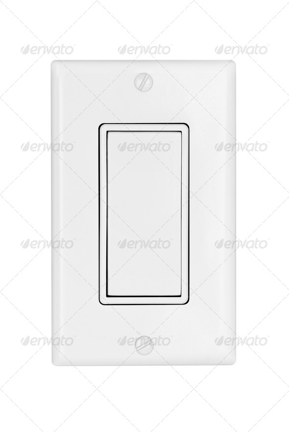 Light switch isolated on white - Stock Photo - Images