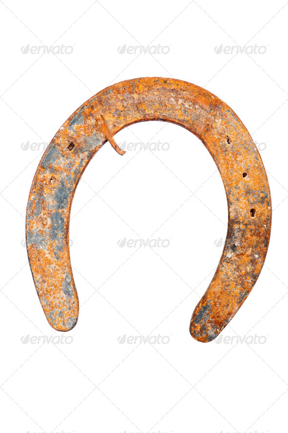 Horseshoe isolated on white - Stock Photo - Images