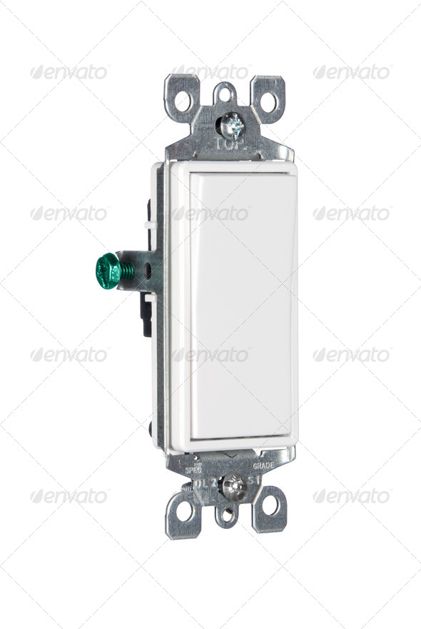 Electric light switch - Stock Photo - Images