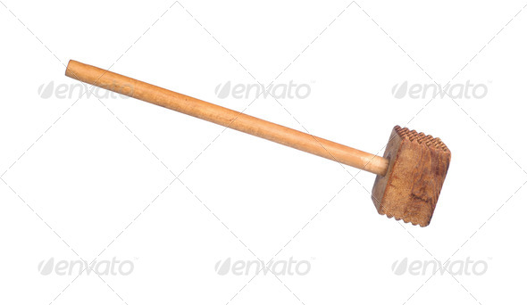 Meat tenderizing mallet - Stock Photo - Images