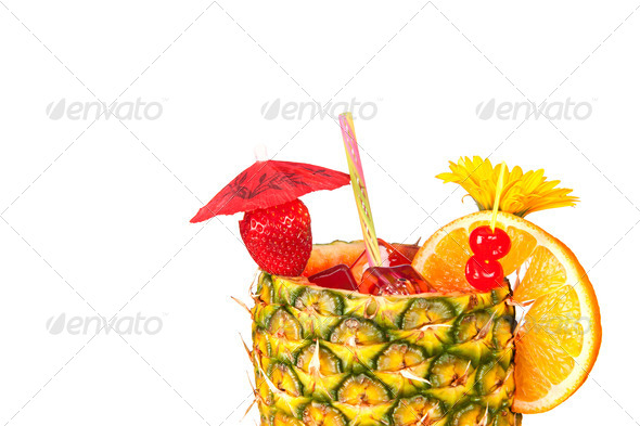 Isolated tropical drink - Stock Photo - Images