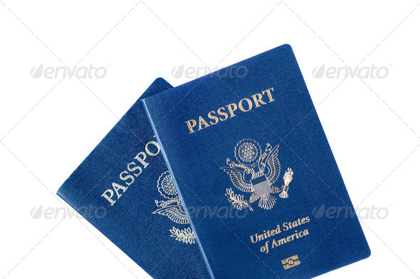 Passports isolated on white - Stock Photo - Images