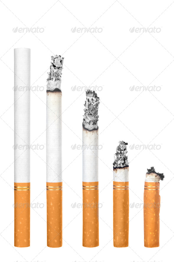 Cigarettes isolated on white - Stock Photo - Images