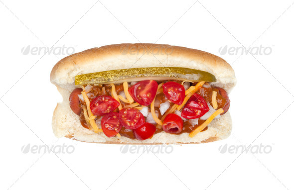 Hotdog with the works - Stock Photo - Images
