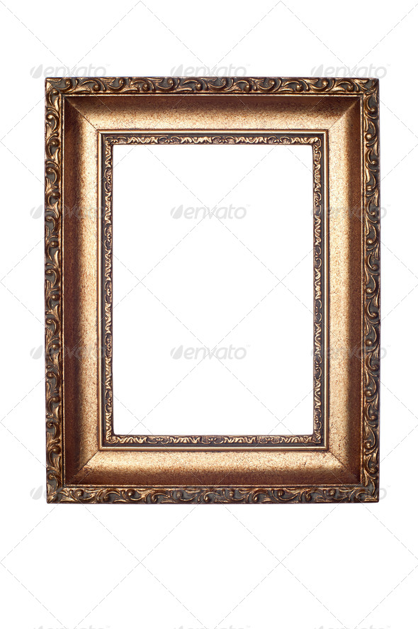 Decorative frame isolated on white - Stock Photo - Images