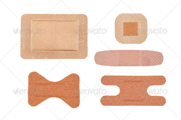 Assortment of adhesive bandages - Stock Photo - Images