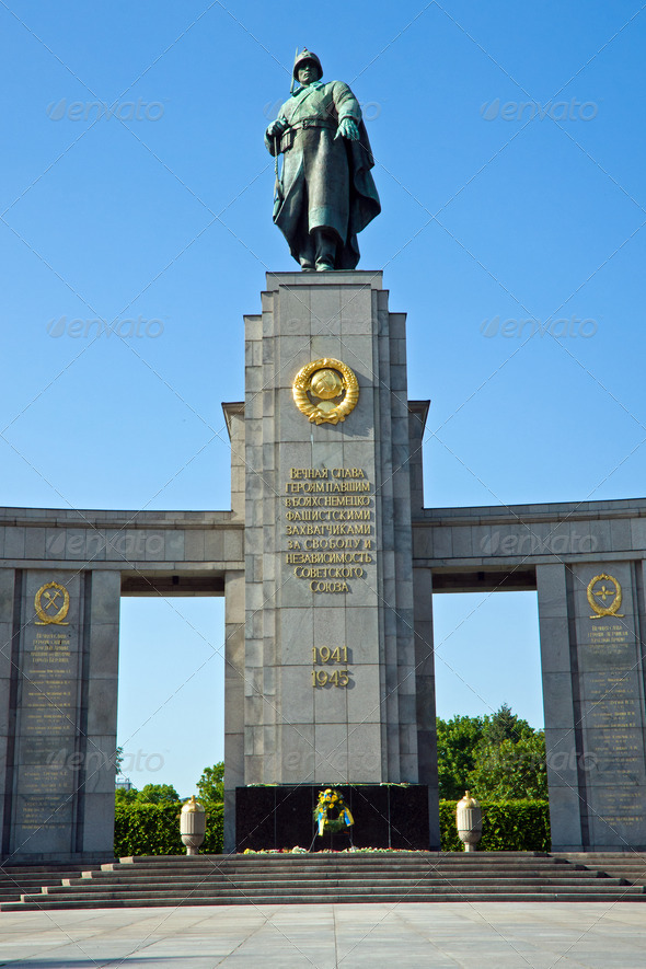 Soviet war memorial - Stock Photo - Images