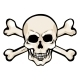 Vector Cartoon Pirate Skull with Cross Bones - GraphicRiver Item for Sale