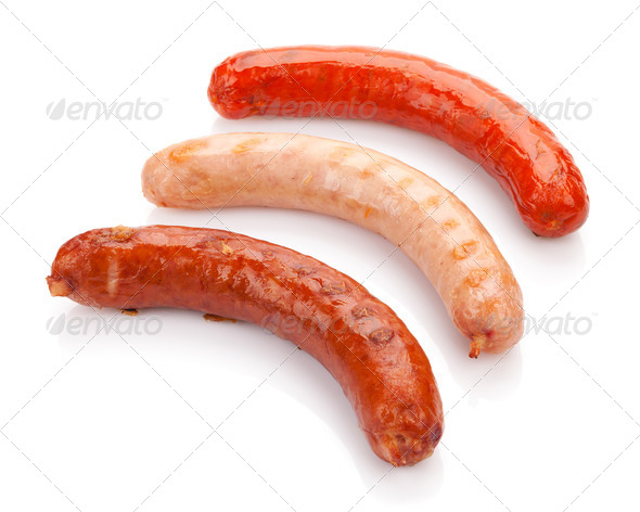 Various grilled sausages - Stock Photo - Images