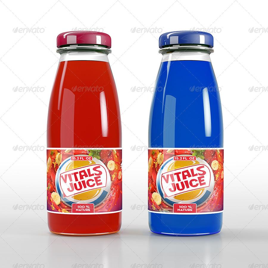 natural juice bottle mock