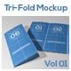Tri-Fold Brochure Mock-Ups Vol 01 - GraphicRiver Item for Sale