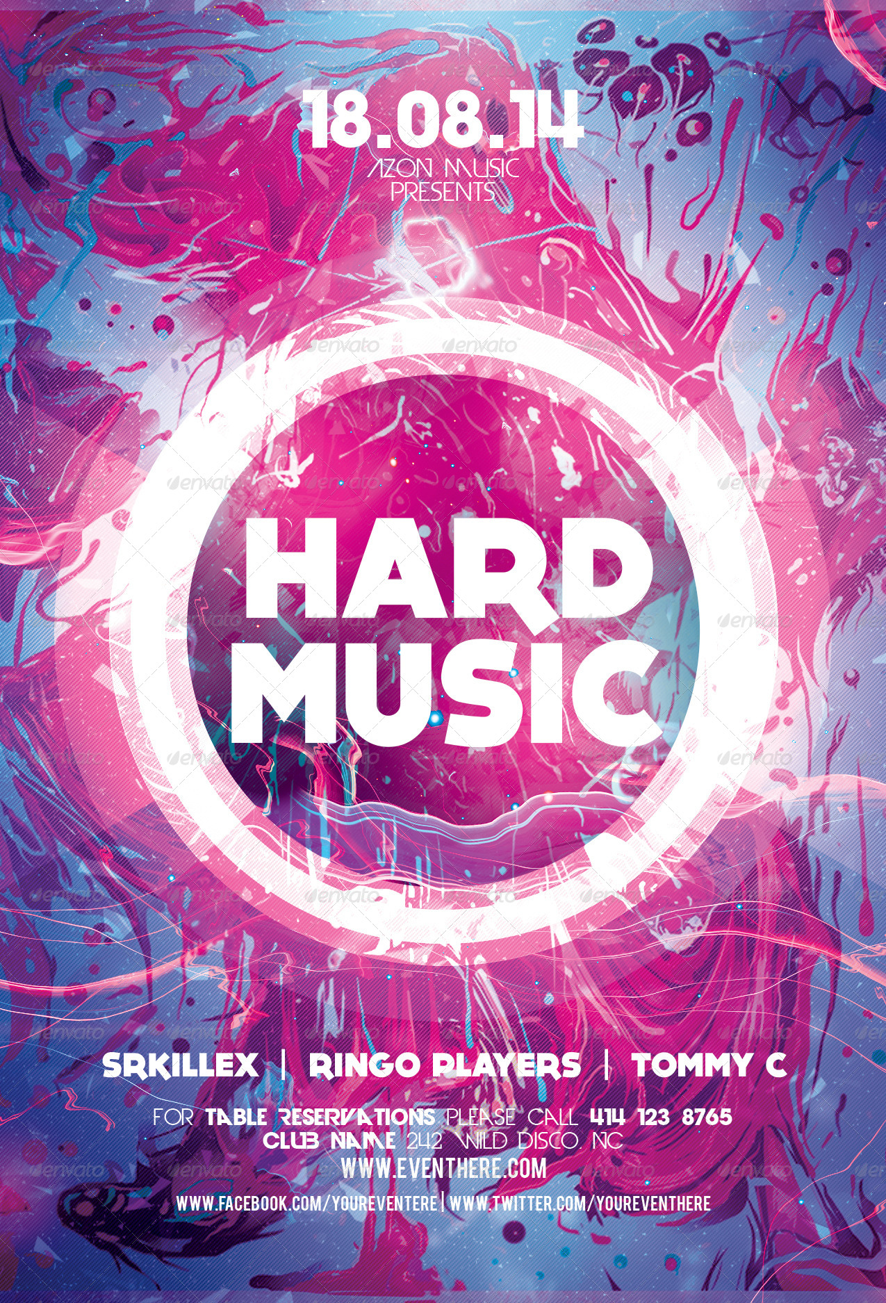 Hard Music Flyer Template by Xemrind | GraphicRiver
