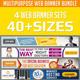 Multipurpose Web Banner Set Bundle - GraphicRiver Item for Sale