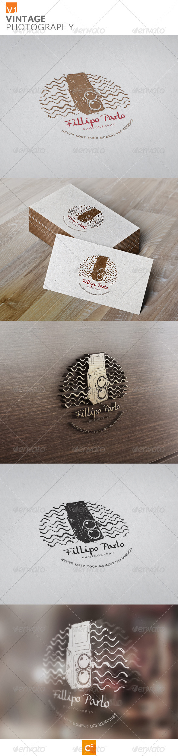 Vintage Photography - Objects Logo Templates