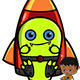 Game Character - Rocket Monster - GraphicRiver Item for Sale