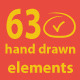 63 Hand Drawn Elements - GraphicRiver Item for Sale