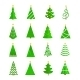 Christmas Tree Icons Flat - GraphicRiver Item for Sale