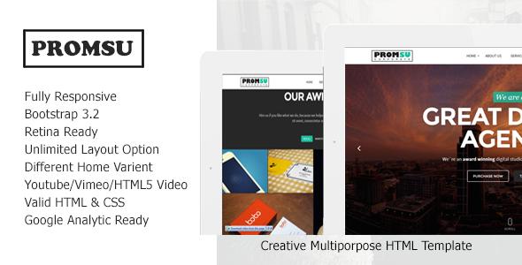 Promsu - Creative Multiporpose HTML5 Template - Portfolio Creative