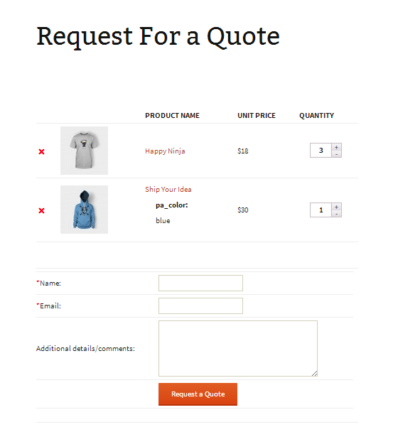Request For Quote Extraordinary Woocommerce Request A Quotedvin  Codecanyon