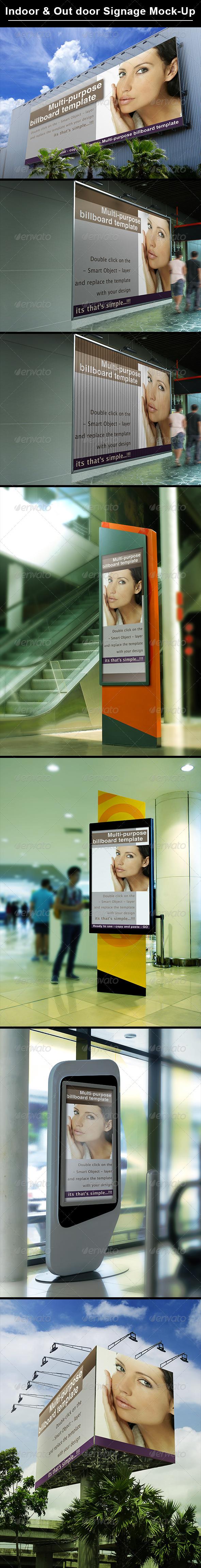 Billboard & Indoor Signage Display Mock Up - Graphics
