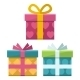 Gift Boxes Flat Icon - GraphicRiver Item for Sale
