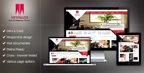 New Maxx HTML5 Magazine Web Template