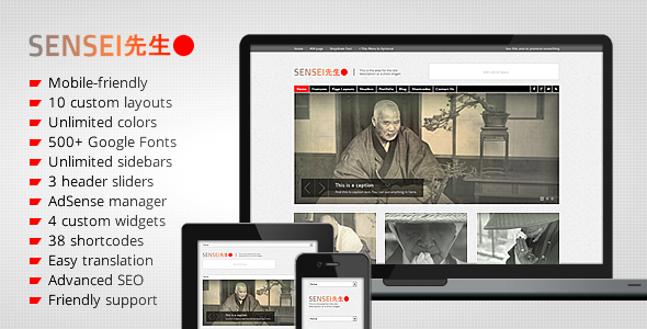 Sensei – Personal and Professional WordPress Theme