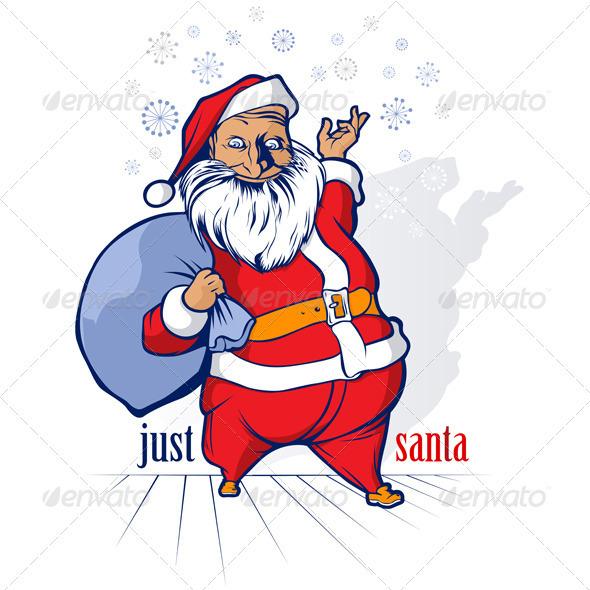 Cartoon Santa Smile - Christmas Seasons/Holidays