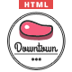 Downtown - Restaurant HTML Template Nulled