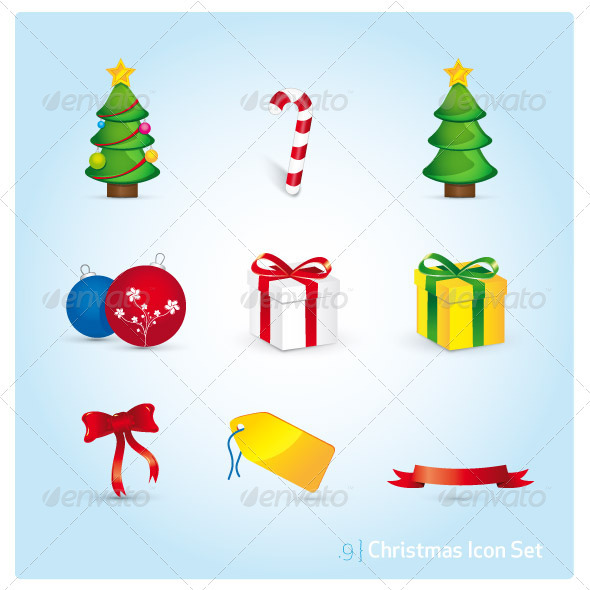 Christmas Icon Set - Christmas Seasons/Holidays