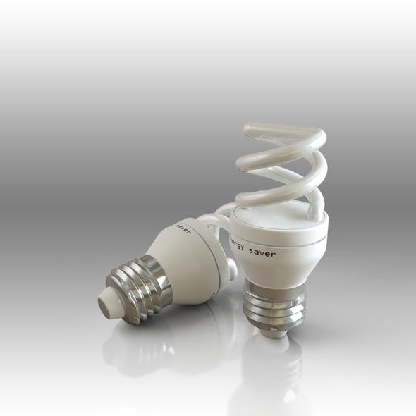 Energy Bulb Fluorescent - 3DOcean Item for Sale