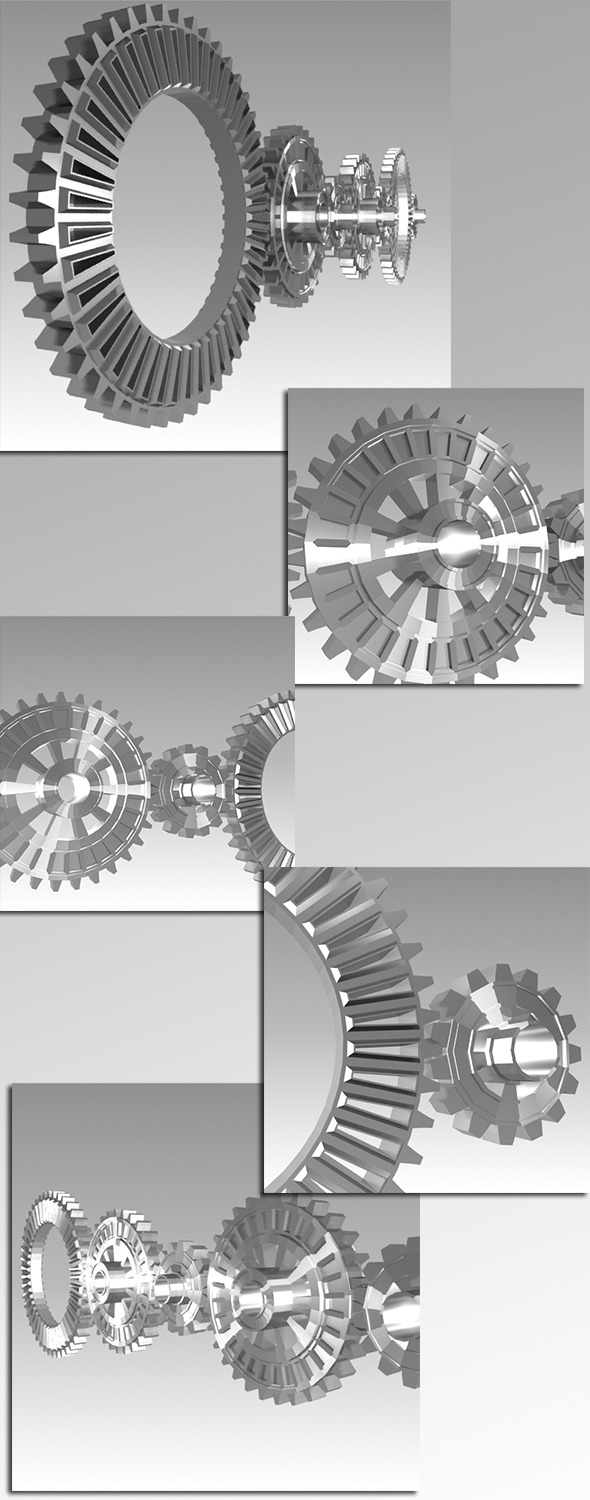 Steel Gears - 3DOcean Item for Sale