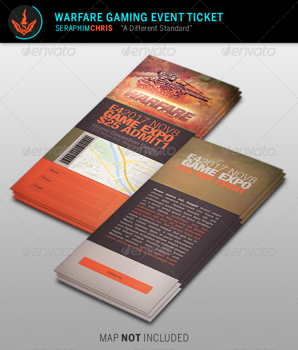 Ticket Template Stationery And Design Templates Page - Event ticket template photoshop
