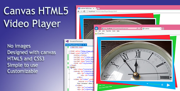 Simple html5 video player with canvas by xio codecanyon for Html5 video player template