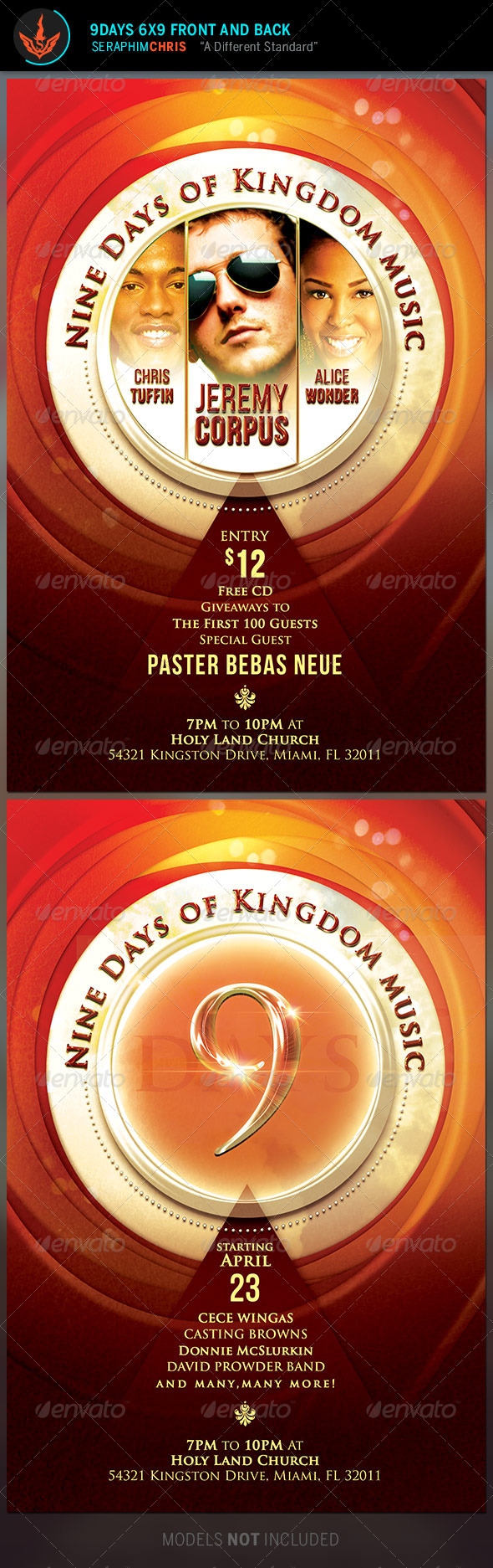 Gospel Music Flyer Template - Church Flyers