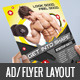 Fitness Center Flyer Print AD - GraphicRiver Item for Sale