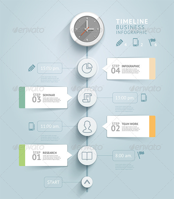 Timeline Infographic Template by graphixmania | GraphicRiver
