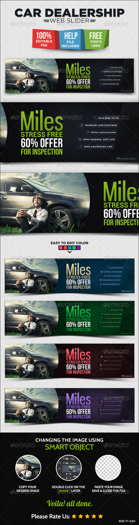 Automotive Car Dealership Graphics Designs Templates