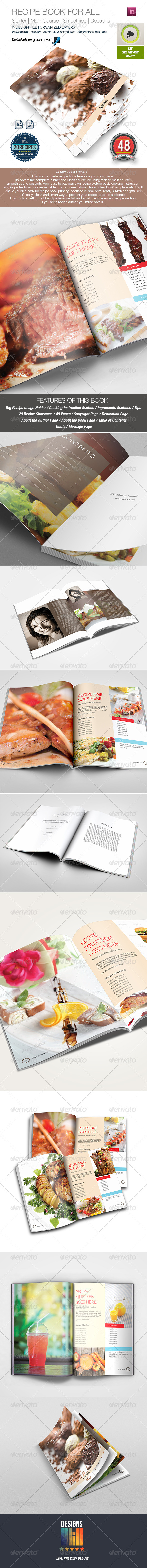 Recipe Book Template for All - Informational Brochures