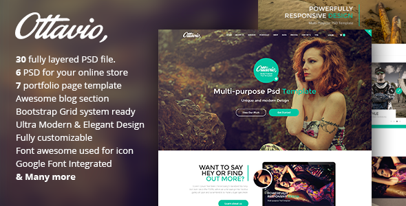 Ottavio – Creative Multi-Purpose PSD Template