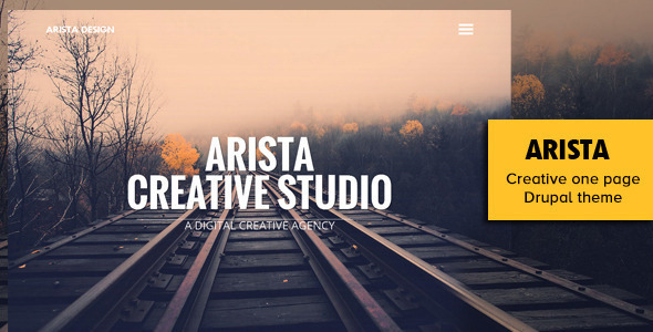 Arista - Creative One Page Drupal Theme  - Portfolio Creative