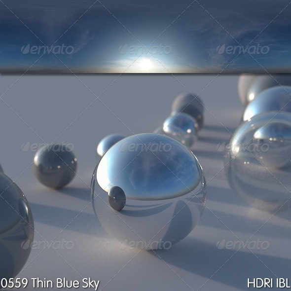 HDRI IBL 0559 Thin Blue Sky - 3DOcean Item for Sale
