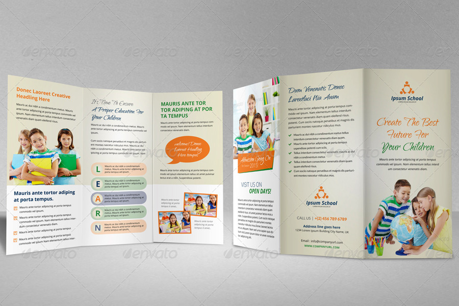 Education School Trifold Brochure Template By Janysultana