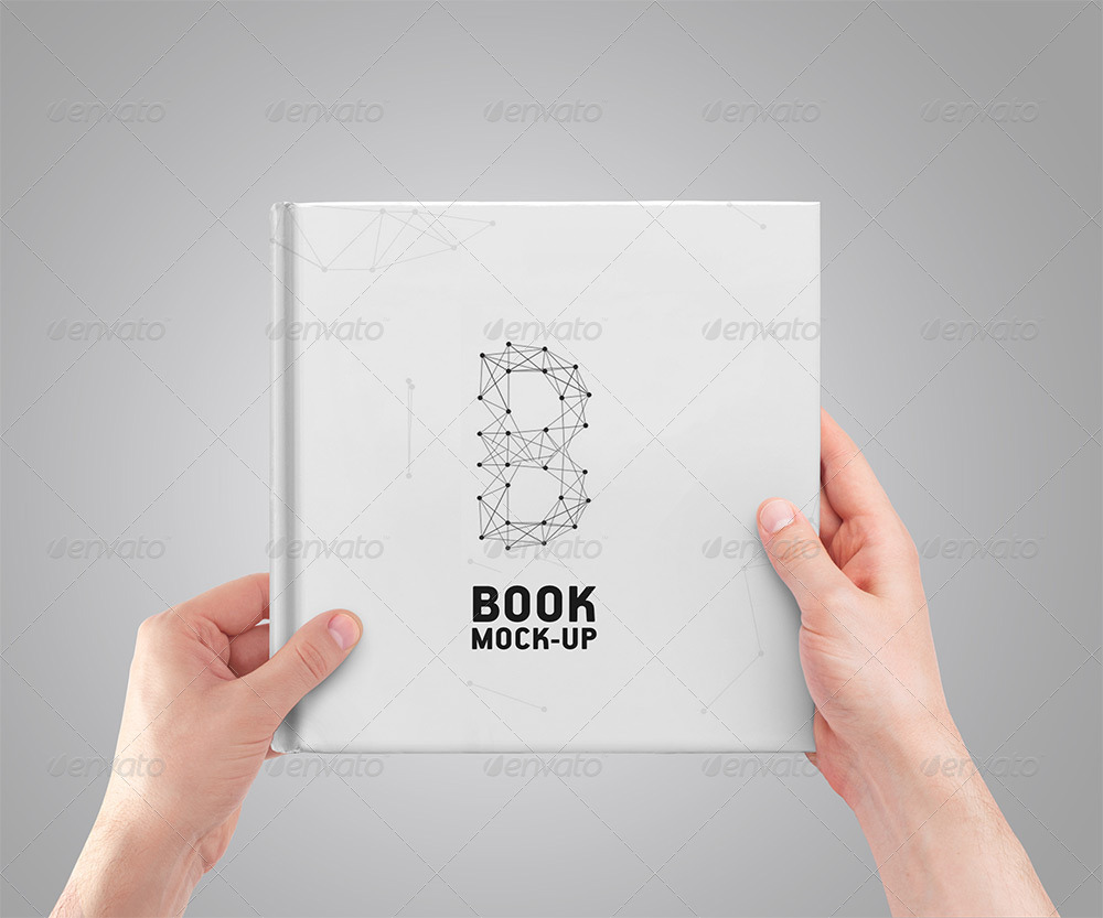 Square Book Mock Up By Puzzlerbox Graphicriver