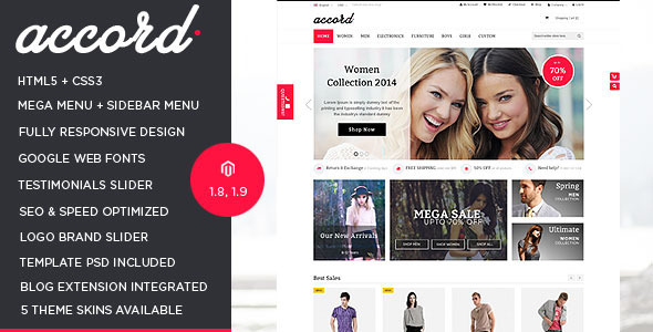Accord – Responsive Multipurpose Magento theme
