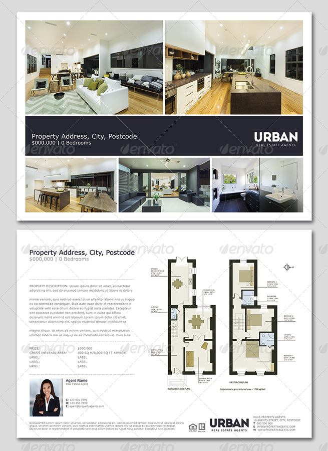 modern real estate flyer  window card by realestateflyers
